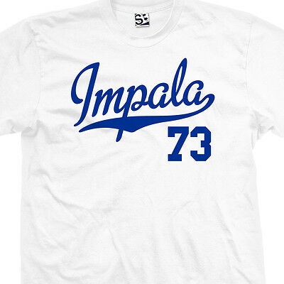 Impala 73 Script Tail Shirt - 1973 Lowrider Classic Car - All Sizes & Colors