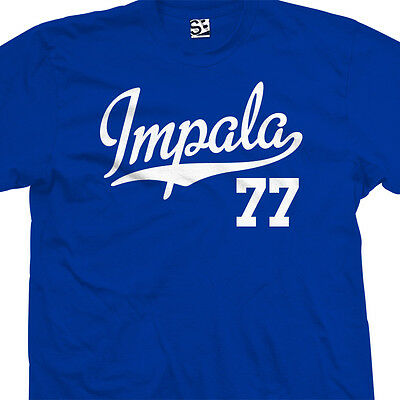 Impala 77 Script Tail Shirt - 1977 Lowrider Classic Car - All Sizes & Colors