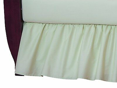 Celery Crib Skirt Dust Ruffle Bedding Cribskirt Percale Bed Nursery 100% Cotton