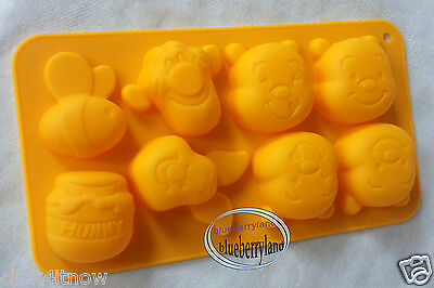 Disney Winnie the Pooh SILICONE Mold Chocolate ICE Mould jello party food prep