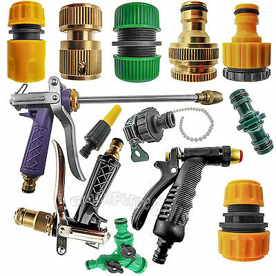 """Garden Lawn Car Water Hose Pipe Fitting Tap Adaptor Connector 1/2"""" 3/'4"""" LOT"""