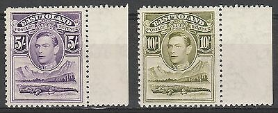 Basutoland 1938 Kgvi Crocodile 5/- And 10/- Top Values