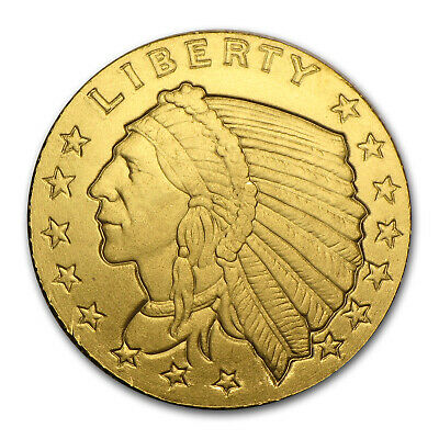 1/10 oz Gold Round - Incuse Indian .9999 Fine
