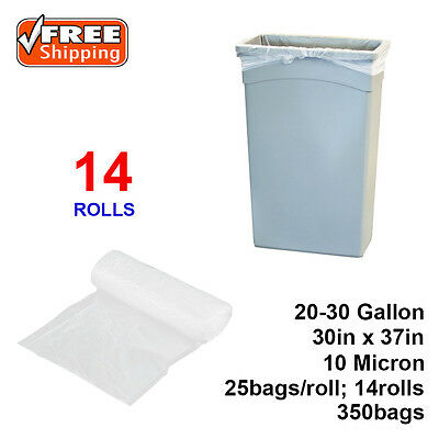 "20-30 Gallon 10 Micron 30"" x 37"" High Density Can Liner / Trash Bag - 350 /Case"