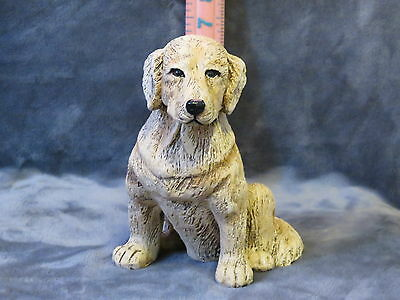 Golden Retriever Plaster Dog Statue Hand Cast And Painted By T.c. Schoch