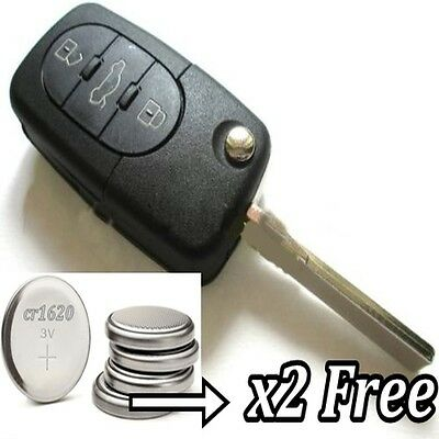 3 Button Key Remote Case Fob for Audi A1 A2 A3 A4 A5 A6 Q5 Q7 TT RS R8 S3 cr1620