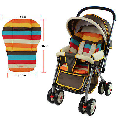 New Thick colorful stroller seat cushion cotton rainbow general cotton thick mat