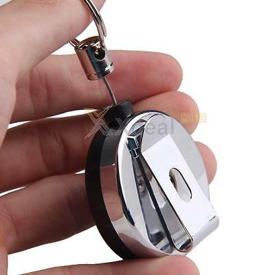 New Mini Outdoor Safety Buckle Retractable Rope Keychain Anti-Lost Keychain Ring
