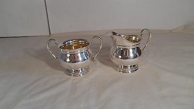 International Sterling Silver Prelude Pattern Creamer and Sugar Bowl