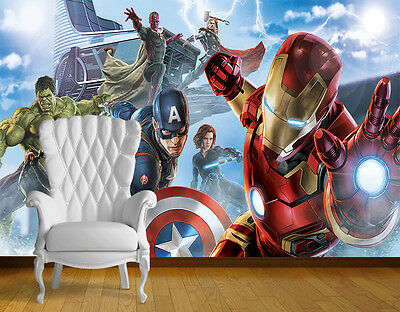 Avengers Super Hero Wall Art Wall Mural Any Size Self Adhesive Vinyl Decal 1