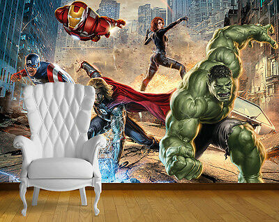Avengers Super Hero Wall Art Wall Mural Any Size Self Adhesive Vinyl Decal 2