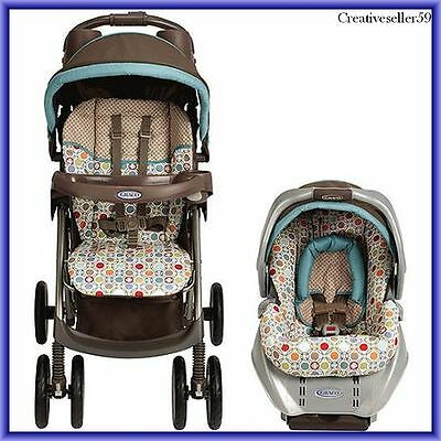 Baby Travel System Twister Stroller Infant Safety Car Seat  Spree Connect  Graco