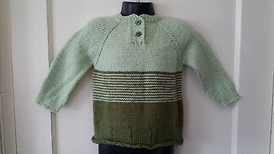 Cute Winter Toddler Girl Handmade Green Sweater. Size 2T, 24M. Free Shipping!