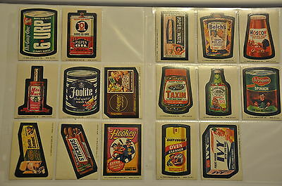 Wacky Packages 9th Series Set 1974