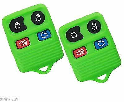 Best 2 Replacement Keyless Entry Remote 4 Button Key Fob For Ford Car SUV Green