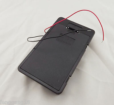 1pcs Hold 6 AA 6X AA 6XAA Battery Holder Box Case 9V With Cover Lead Wire