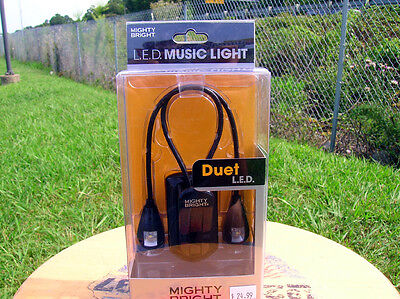 Mighty Bright Duet L.E.D. Music Stand Light, Dual L.E.D.'s and Goosenecks For 2