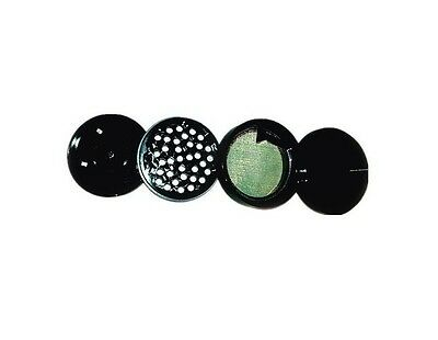 "2.5"" CNC aluminium 4 pieces Tobacco Herbal Grinder Black (New Design)"