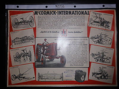Prospekt Sales Brochure M´Cormick-International Farmall Diesel DF 25PS Schlepper