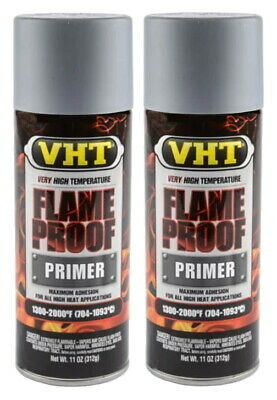 2 X Vht Sp100 Flat Gray Flameproof Exhaust Primer Paint