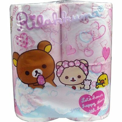 Rilakkuma toilet  tissue paper  4 roll only rare item from Japan