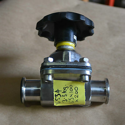 "Saunders 40mm 1/5"" triclover tri clamp sanitary SA040SAUGAGE2H26 Diaphragm Valve"