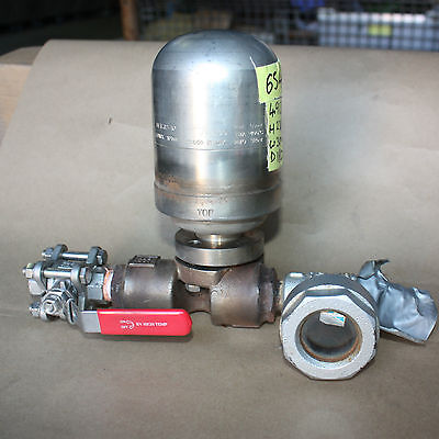 UFT 32-10 Spirax Sarco Steam trap isolator valve and sight glass assembly