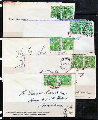 KGV 1d GREENS ON 10 COVERS LOT2