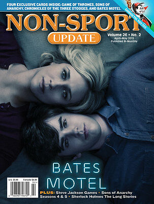 Non-Sport Update Apr/May '15 Bates Motel cover w/ 4 free promo cards