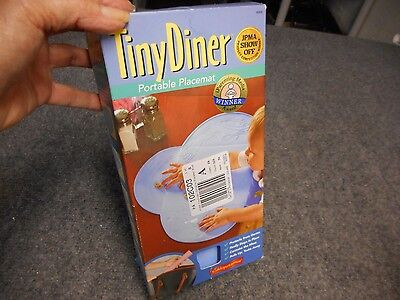 NIB TINY DINER PORTABLE PLACEMAT BABY TODDLER WASHABLE REUSABLE BLUE HEY DIDDLE