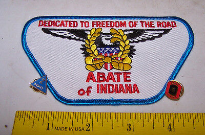 ABATE of INDIANA Motorcycle Patch & Pins 2 Year - 4 Year Member