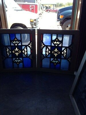 Sg 144 Two Available Painted And Fired Antique Stained-Glass Windows