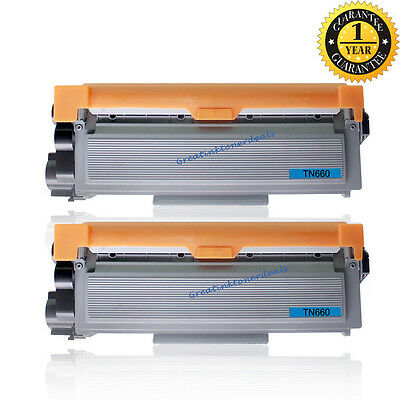 2PK TN660 Toner Cartridge For Brother TN660 HL-L2320D L2340DW L2360DW L2380DW