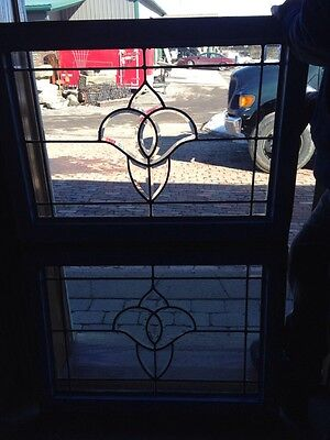 Sg163 Antique Beveled Glass Tulip Design Windows