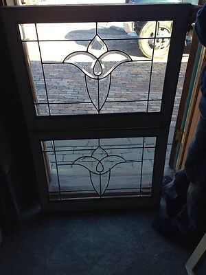 Sg 164 For Available Antique Tulip Beveled Glass Center Windows