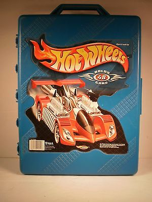 HOT WHEELS STORAGE/CARRYING CASE & Lot of 46 Misc. 1:64 Scale CARS & TRUCKS