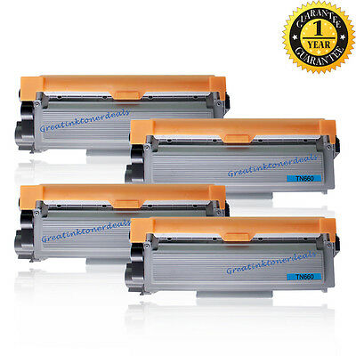 4PK TN660 For Brother TN660 Toner Cartridge HL-L2320D L2340DW HL-L2360DW L2380DW