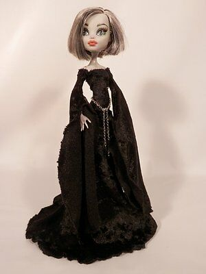 Clothes Outfit for YOUR Monster High Doll-black Medieval Gown Set