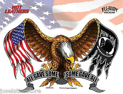 """'All Gave Some, Some Gave All' Military Patriotic Vinyl Sticker 6.75"""" x 5.25"""""""