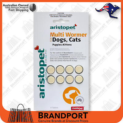 Aristopet All Wormer Tablets for Dogs & Cats x 8 Pack Fresh Stock Fast AUS Post