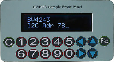 I2C Keypad Front Pack for 16x2 LCD, RGB Option, Arduino, Raspberry Pi BV4243