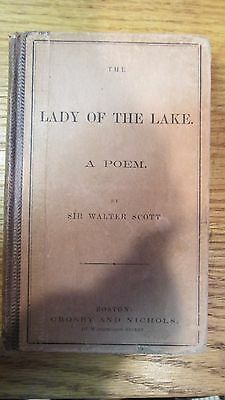 Vintage The Lady Of The Lake, Hardcover Book, Poetry by Sir Walter Scott 1866