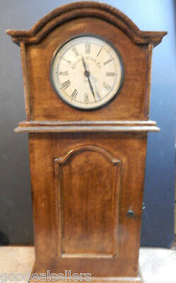 "Park Designs Colonial Clock Co. 1870 22"" Tall Wall / Table Clock W/ Shelves Wood"