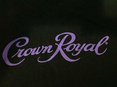 AMAZING! Crown Royal Black Purple Mens T-shirt Soft Football NEW mancave Bar