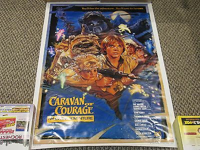 """Ewok Adventure """"CARAVAN OF COURAGE"""" Official B-Style Theater 1-Sheet Poster 1984"""