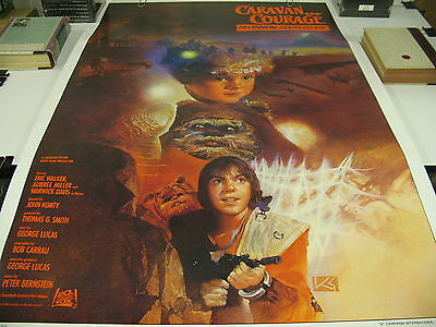 """Ewok Adventure """"CARAVAN OF COURAGE"""" Official A-Style Theater 1-Sheet Poster 1984"""