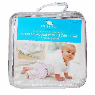 100% Australian Wool Washable Wool Cot Quilt with Cotton Quilt Cover