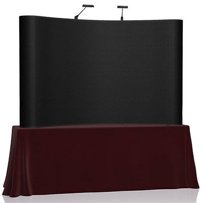 8' ft Table Trade Show Display Booth Exhibit Pop Up Case w/Lights