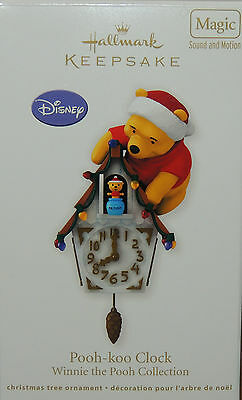 2012 Hallmark Ornament Disney Winnie the Pooh-koo Clock Magic Sound HE POPS OUT!