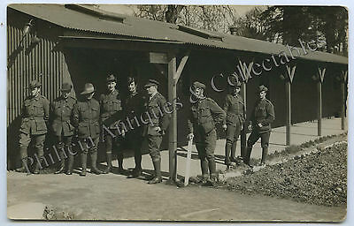 WW1 RP POSTCARD AIF SOLDIERS/OFFICERS TRAINING CAMP AUSTRALIA j89